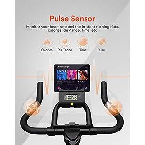 UREVO Indoor Cycling Bike Stationary,Exercise Bike Workout Bike,Fitness Bikes for Home Cardio Workout Bike Training Bike (White)