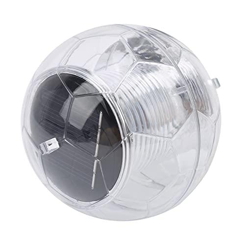 Jacksing Lámpara Flotante, lámpara LED para Piscina Flotante con energía Solar en Forma de Bola 7 Colores con Sensor automático para Lago