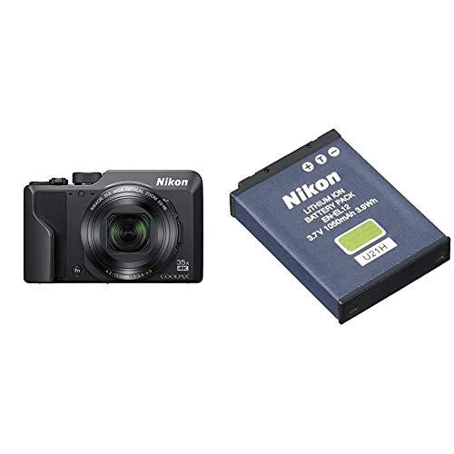 Nikon COOLPIX A1000 schwarz & EN-EL12 Lithium-Ionen-Akku für Nikon Coolpix