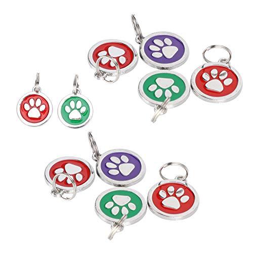 Pet Anti-Lost Supplies, langlebiges, leichtes Haustieretikett, 10 Stück für Pet Dog Cat(Random colors for footprints)