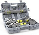 LAZ Carga Pesa de Gimnasia consigna Ajustable combinación con Barra Desmontable con la Caja Portable de la Pesa de Gimnasia
