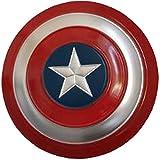 Capitan America Scudo, Props Cosplay Supereroe Metal Shield Shield Halloween Retro Costume Accessori Bar Scudo Parete Appeso Decorazioni ( Color : 4 )
