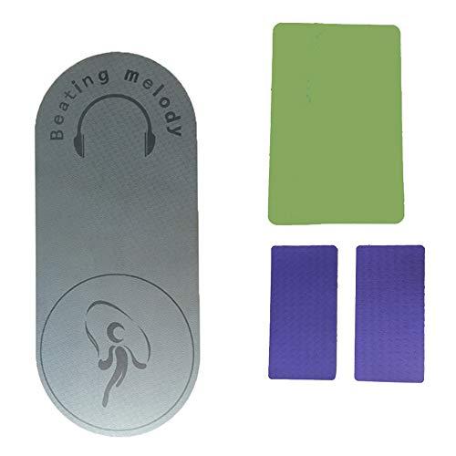 Haihui Skipping Rope Mat Plank Support Cushion Fitness Mat Non-Slip Mat Body Line Floor Mat Universal Durable TPE Yoga Mat Jump Rope Mat