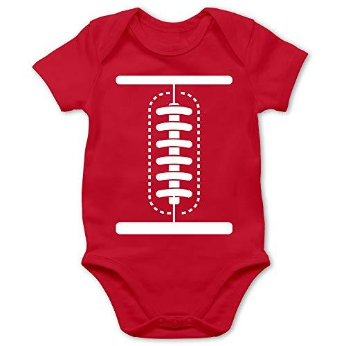Shirtracer Karneval und Fasching Baby - Football Baby Kostüm - 1/3 Monate - Rot - Karneval kostüme - BZ10 - Baby Body Kurzarm für Jungen und Mädchen