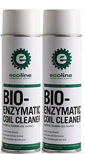 Ecoline - Bio-Enzymatic Coil Cleaner, Removes Dirt, Lint and Grease from Air Conditioner, Refrigerator, Condenser Coil, Evaporator, Heater Coil Fins (Pack of 2)