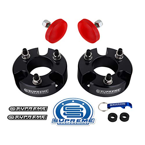 Supreme Suspensions - Front Leveling Kit for 2005-2020 Nissan Frontier, 2005-2015 Nissan Xterra and 2005-2012 Nissan Pathfinder 2WD 4WD 3' Front Lift Strut Spacers with Bump Stops (Black)