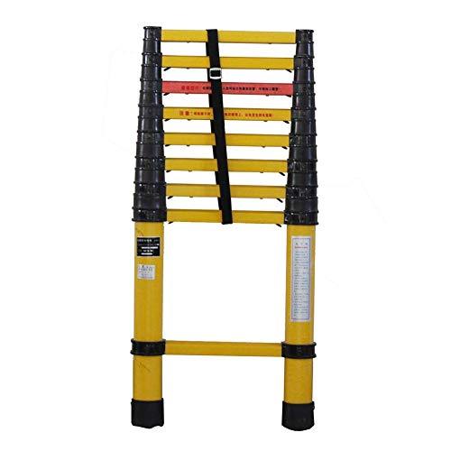 JJYGONG Escaleras Telescópicas, Escalera Portátil, Plegable, Pesado, Importe Multiuso No Conductor con Protección de Los Dedos, Escalera de Extensión Plegable para Loft Diy, Capacida