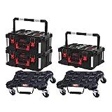 PAQUETE MILWAUKEE 2 carros planos - 3 maletas de transporte 62L tamaño 3