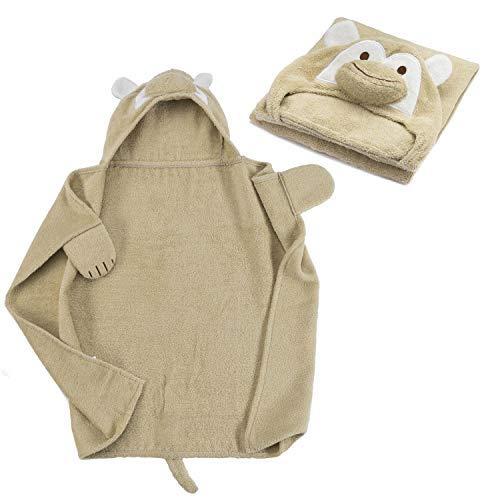 all Kids united baby handdoek met capuchon van 100% badstof katoen - babybadhanddoek met capuchon - Öko-Tex 100