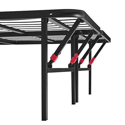 AmazonBasics Foldable Metal Platform Bed Frame for Under-Bed Storage - Tools-free Assembly, No Box Spring Needed - Full
