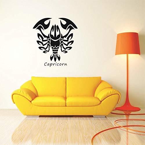 Zwölf Sternbild Aufkleber Logo Aufkleber Vinyl Wandtattoos Aufkleber Wandbrett Dekor Wandbild Aufkleber Skorpion. 40 x 43 cm