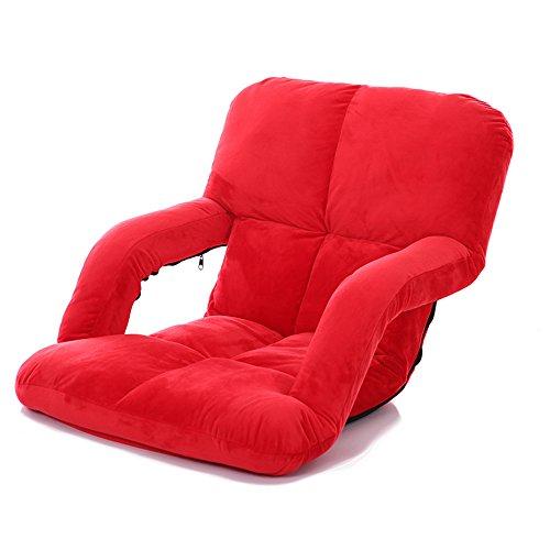 FEI Confortable Chaise d'extérieur sans support avec support de dossier inclinable, idéale pour les bateaux Yachts Stadium Sièges de gradins Camping Festivals Solide et durable (Couleur : Red)