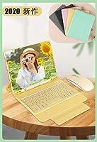 おしゃれ 2019モデル iPad 10.2インチキーボードケース マウス付属 超薄型 軽量 一体式 無線 Bluetoothキーボード ペンシルホルダー付き 第7世代 アイパッド7キーボードカバー お洒落 全面保護 カワイイ 男性 女性 高級PUレザー (iPad 7(2019年10.2), 黄)