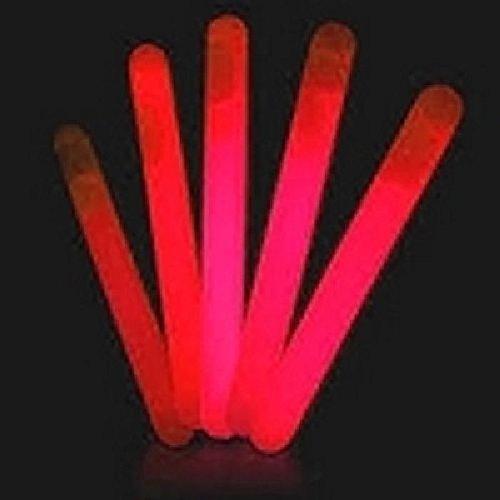 Mondial-fete - Bâton fluo rouge avec cordon