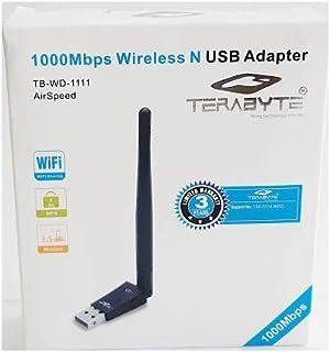 Terabyte USB 600Mbps Wi-Fi Dongle (Black)