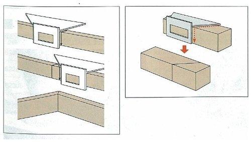 シンワ測定『一発止型定規ポリカーボネート(62112)』