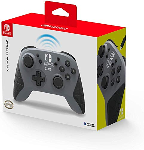 HORI Kabelloser Controller für Nintendo Switch (Grau)