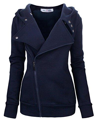 TAM WARE Women's Slim fit Zip-up Hoodie Jacket...