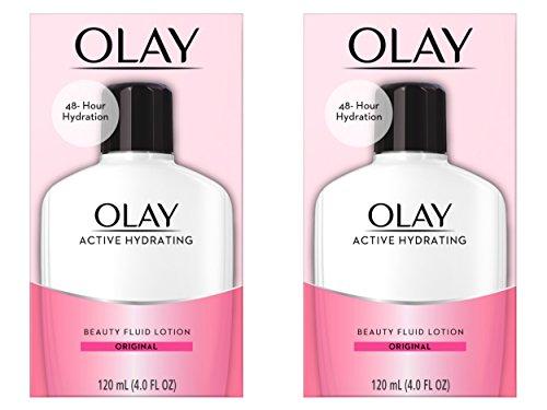 Olay Active Hydrating Beauty Fluid Original crema hidratante––Lote de 2