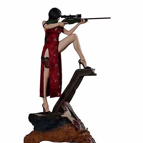 ZH Resident Evil Figuras De Acción Coleccionables, 1/4 Ada Wong Anime Modelo De Juguete, 55Cm Materiales De Resina Estatua De Adornos, Decoración De Escritorio De Oficina En Casa
