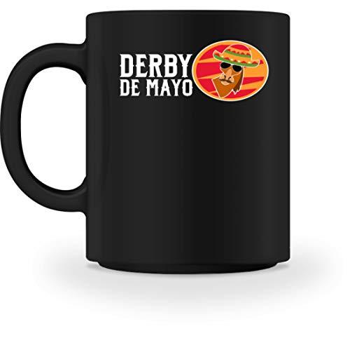 Derby De Mayo - Taza de desayuno con diseño de mexicano para hombre y mujer Negro M