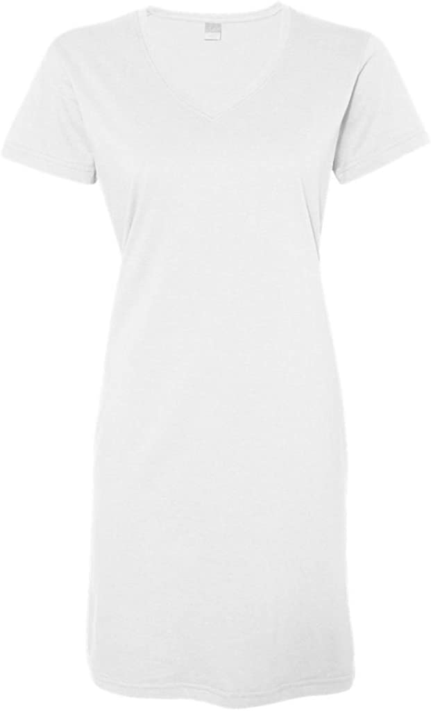 LAT - Ladies Fine Jersey V-Neck Coverup T-Shirt Beach and Lounge Dress