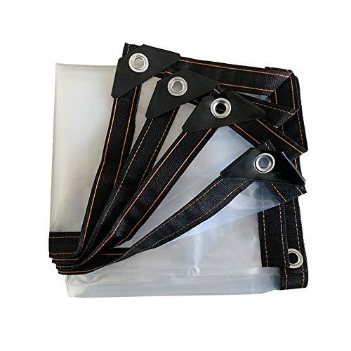DGLIYJ- Abdeckplanen Lona Impermeable Gruesa Transparente Multifuncional, Lona Protectora De Parabrisas para Ventanas De Plástico Exteriores, con Perforaciones(Size:5x5m)
