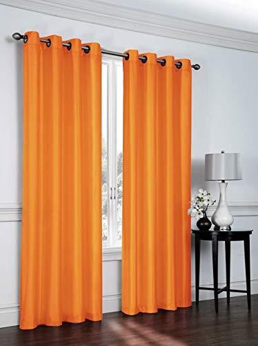 chinawh Verduisteringsgordijnen - Oranje Eenvoudig En Stijlvol 220X215Cm 3D-Printen - Gordijnen Met Ringen - Thermisch Geïsoleerd Geluiddempend 2 Panelen/Set - Geschikt Voor Slaapkamers