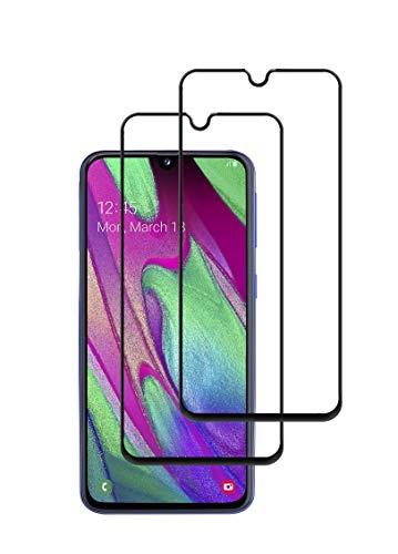 TECHKUN 2 Stück, PanzerglasFolie Schutzfolie für Samsung Galaxy A40 (SM-A405F),SAMSUNG GALAXY A40 panzerglas schutzfolie