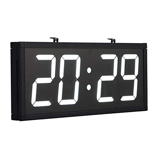 BaiTTang Reloj de Pared Digital LED con Control Remoto - 18.9x7.9 Pulgadas Enorme Temporizador Multifuncional, Cuenta Regresiva, Humedad y Temperatura, Ideal para Oficina, Gimnasio, Adultos Mayores