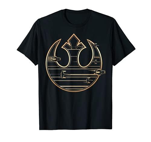 Star Wars Last Jedi Gold Platinum Rebel Fleet Logo T-Shirt