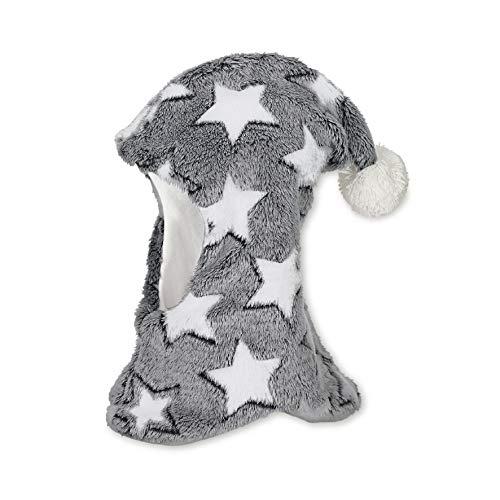 Sterntaler Schalmütze mit Zipfel, Bommel und Sternen-Motiv, Alter: 18-24 Monate, Größe: 51, Blau (Marine)