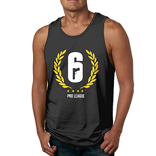 DJNGN Camiseta sin Mangas Divertida con Logo de Six Siege Gym para Hombre