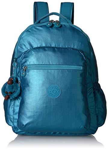 Kipling Women's Seoul Go Laptop, Padded, Adjustable Backpack Straps, Zip Closure, Turkish Tile Metallic, One Size