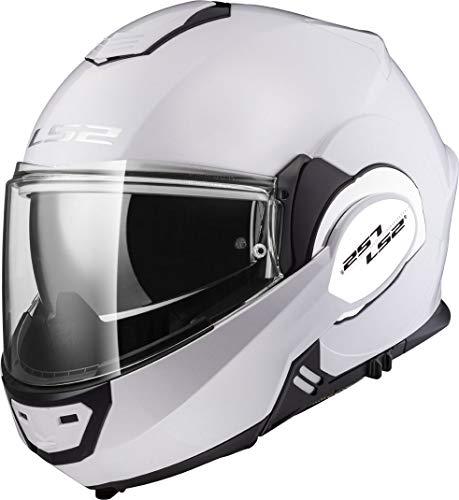 LS2, casco moto modulare VALIANT bianca, XXL