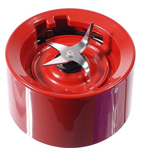 KitchenAid-Mixer mit Glassockel / Manschette imperiumsrot mit Klingen (Schraubversion für KSB555, KSB565 etc.)