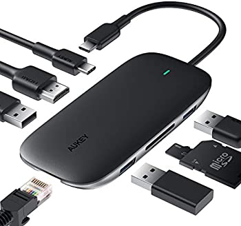 Aukey CB-C71 Link PD Pro 8-in-1 USB-C Hub