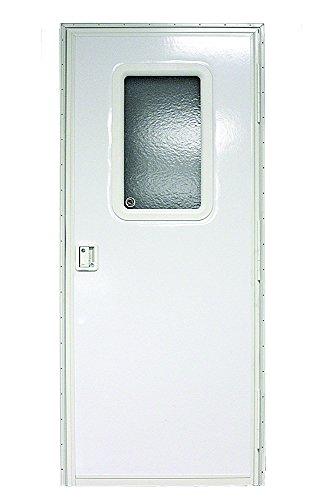 "Lippert Components v000042629 Polar White 24"" x 68"" RV Right Square Entry Door"