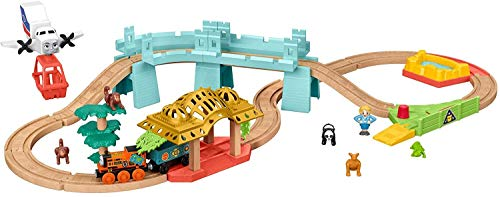 Thomas & Friends Wood Big World Adventures set with train engine, figures, a vehicle and accessories