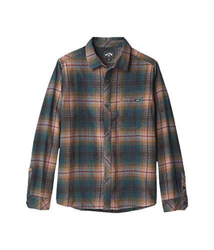 BILLABONG Jungen Coastline Flannel Button Down Hemd, Asphalt, XL