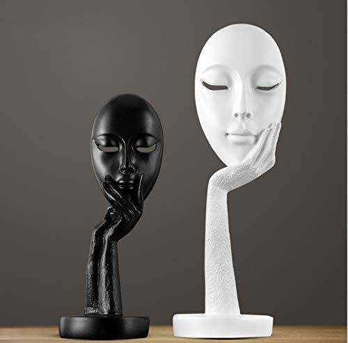 MJDLDV Decoratie, Twee-persoons portret masker sculptuur stuk Europese en Amerikaanse stijl huisdecoratie hars gift woonkamer slaapkamer schommel 2 x 10,5 x 28,5 cm