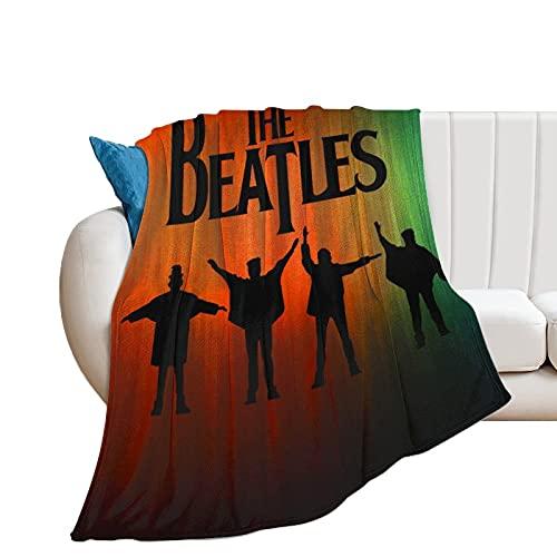 The-Beatles - Manta de franela súper suave y cómoda de terciopelo difuso cálido anti pellizco, fácil de cuidar, microfibra de felpa cálida