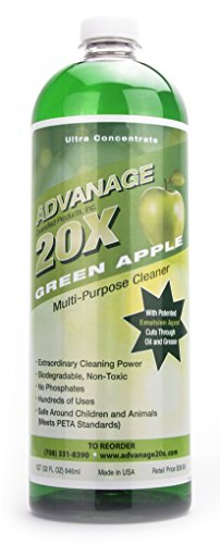 ADVANAGE the Wonder Cleaner 20X Multi-Purpose Ultra Concentrated Formula, Makes 20 Quarts, Green Apple Scented, 32 Fluid Ounce 1 Quart