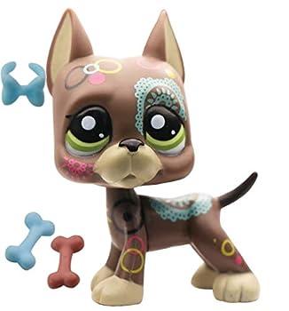 LPSBC LPS Great Dane Tatoo Green Eyes Action Cartoon Pets Dog Puppy Figures Kids Toy Gift