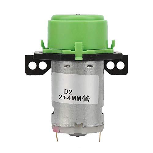 Bomba peristáltica, bomba peristáltica de micro agua líquida de 2 * 4 mm DC 6V para experimentos, análisis bioquímicos, productos farmacéuticos, productos químicos finos, biotecnología(Verde)
