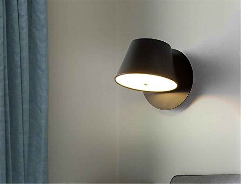 StiefelU LED Wandleuchte nach oben und unten Wandleuchten Wand lampe Nachttischlampe Schlafzimmer Wohnzimmer Wand lesen, B) Schwarz