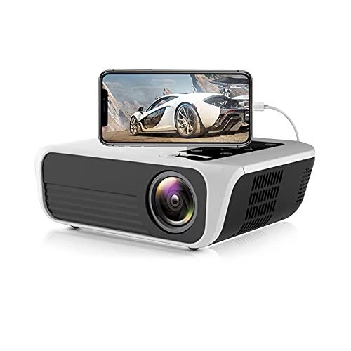Mini Proyector Portátil HD De 4500 Lúmenes Nativos 1920X1080p Proyector De Video ± 30° Corrección Electrónica Trapezoidal, Smartphone Compatible/PC/Laptop/HDMI/USB/Micro SD/VGA/AV,Same screen version