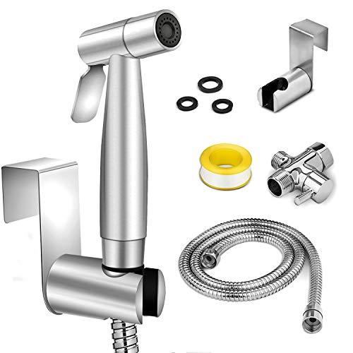 Bidet Sprayer for Toilet,Somdar Two Water Pressure Option,Spray Attachment with Hose for Feminine Wash,Baby Diaper Cloth Washer Shower Sprayer for Pet