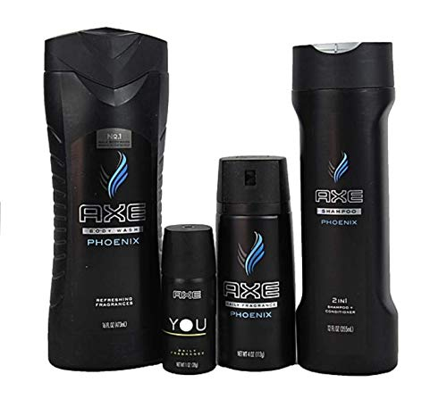 Axe Phoenix Collection Mens Gift Shower Bath Set Fragrances, Body Wash, Shampoo