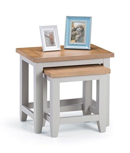 Julian Bowen Richmond Nest of Tables, Grey, Oak